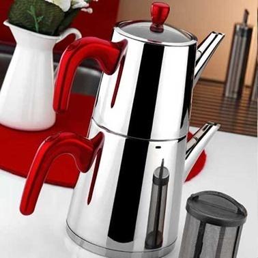 Aryıldız Viole Büyük Çaydanlık Red Kırmızı
